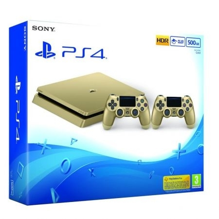 Konsola Sony PlayStation 4 Slim 500GB Gold + Drugi Dualshock 4 (PS4 Slim)
